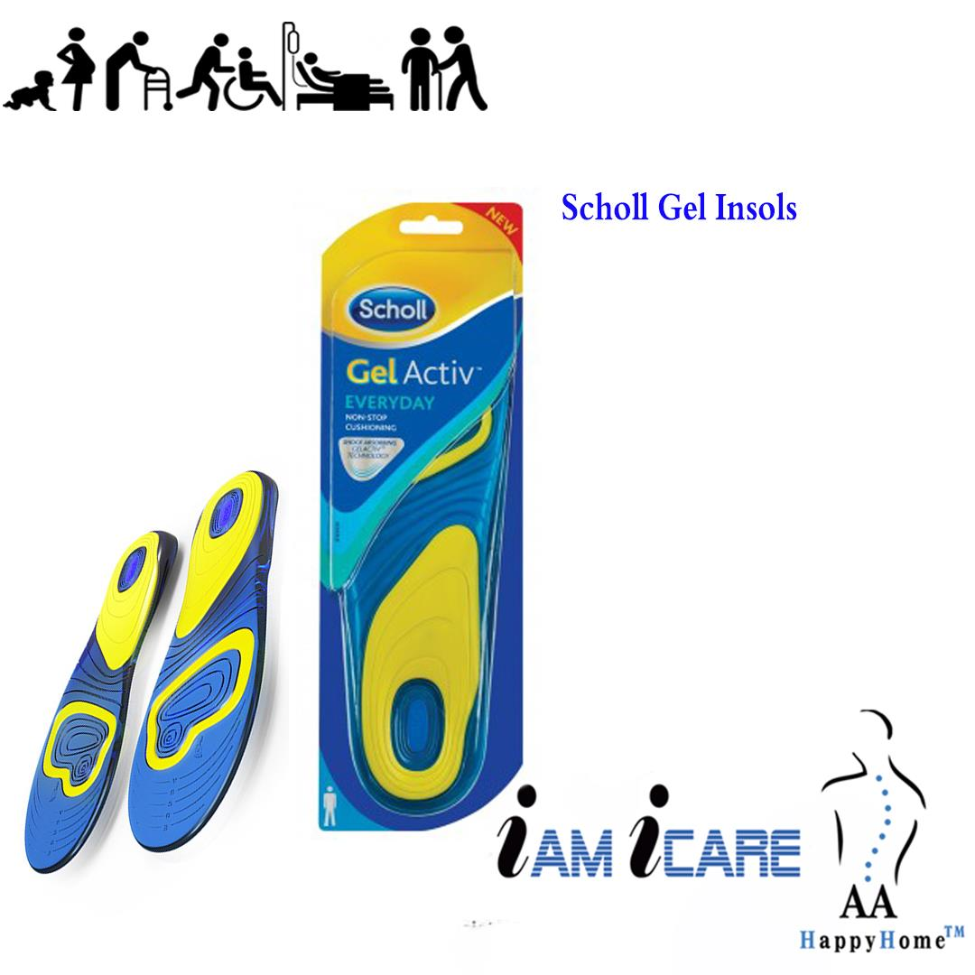 Dejlig Scholl Gel Active Everyday Insoles for Men - AT-21